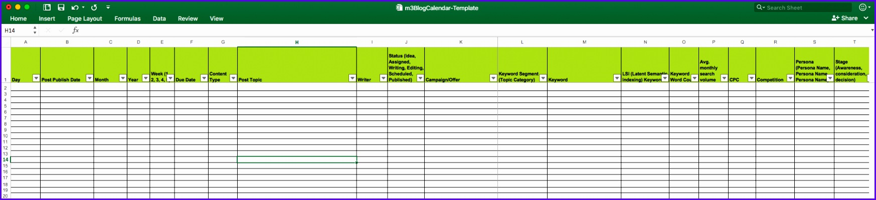 monthly editorial calendar template - 8 monthly planner excel template exceltemplates