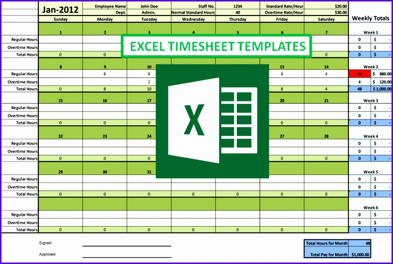 timesheet excel template