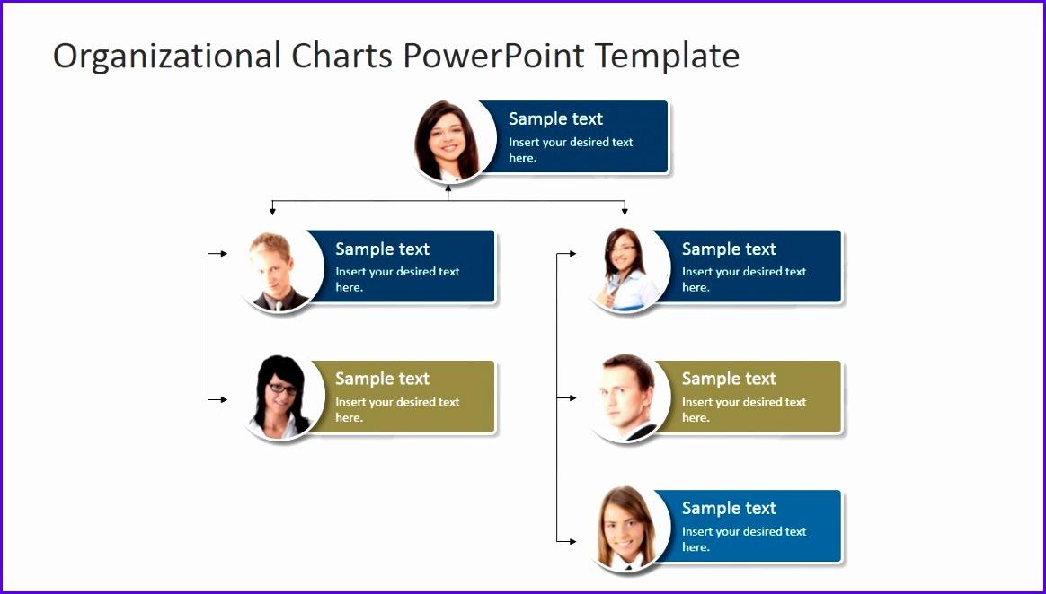 PowerPoint Template Organizational Chart 1164662