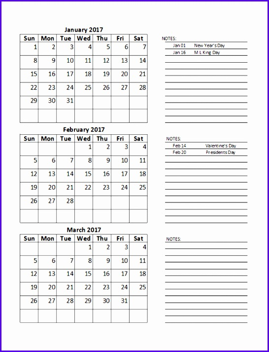 Sample Quarterly Calendar Templates Excel Calendar Schedule