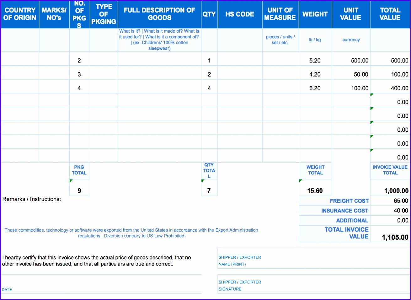 invoice template excel 2010 1310956