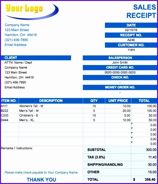 sales receipt invoice template 527614