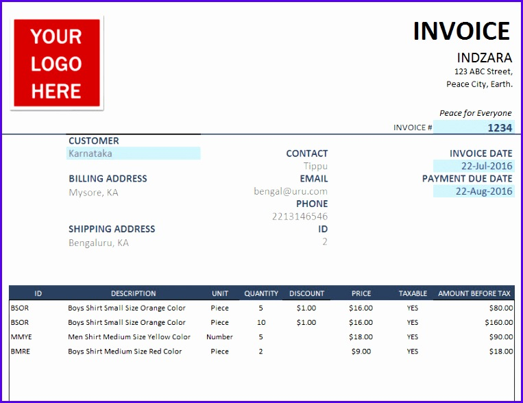Free Excel Invoice Template – Create Invoices for Small Businesses 763588