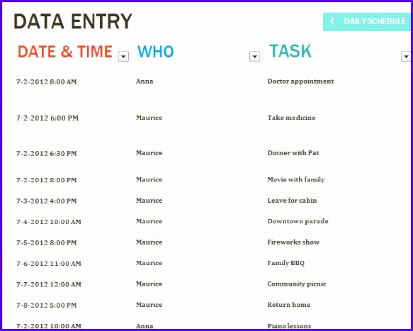 Examples Task Scheduler Excel Template Vvbcc Beautiful Daily Task Template Task List Template 641508