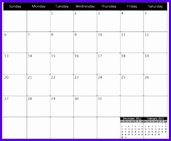 free excel calendar template 245202
