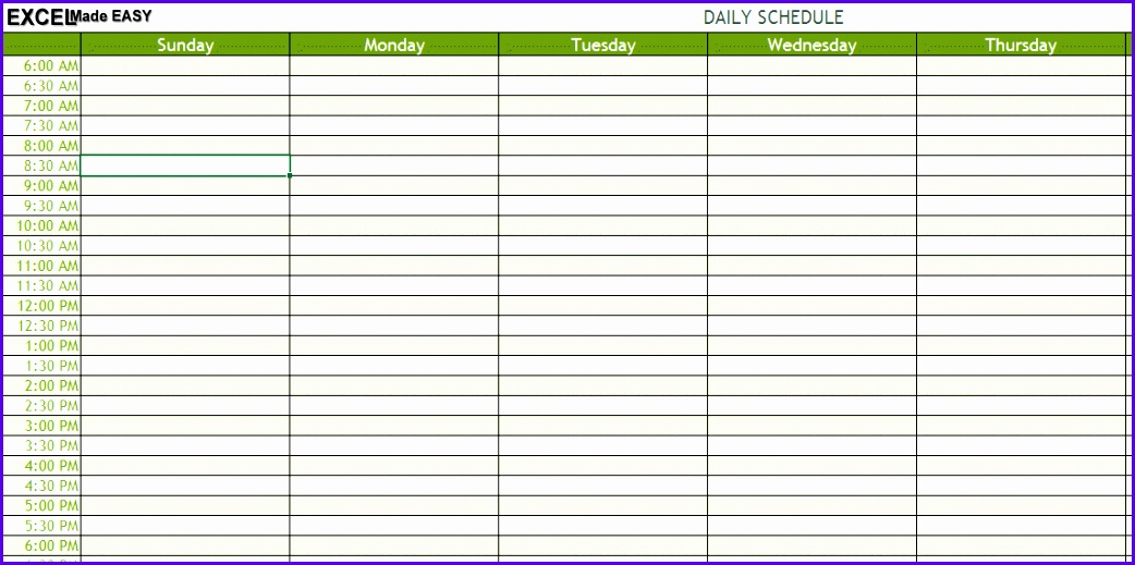 daily schedule 1042519