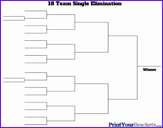 Tournament Bracket for 18 Teams 532420
