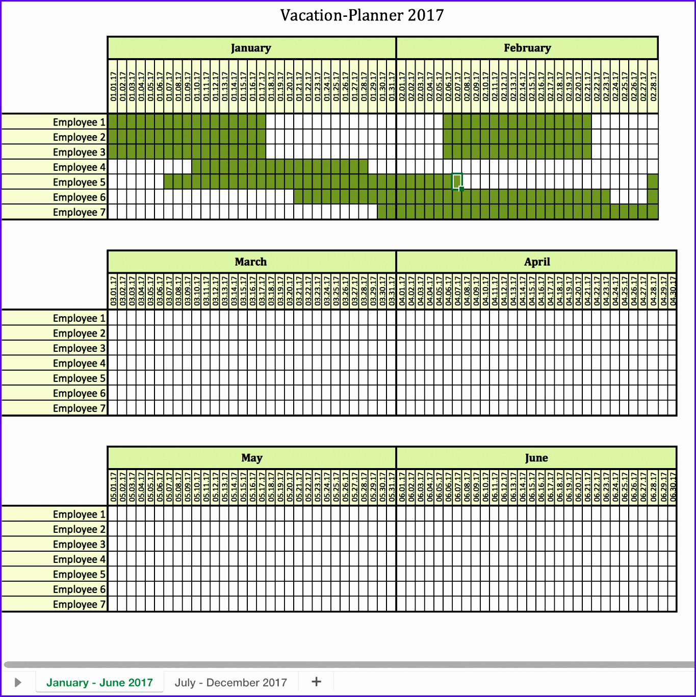 12 Vacation Calendar Template Excel - ExcelTemplates - ExcelTemplates