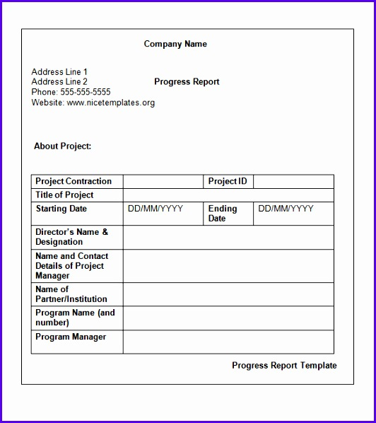 Weekly Status Report Template 12 Free Word Documents Download