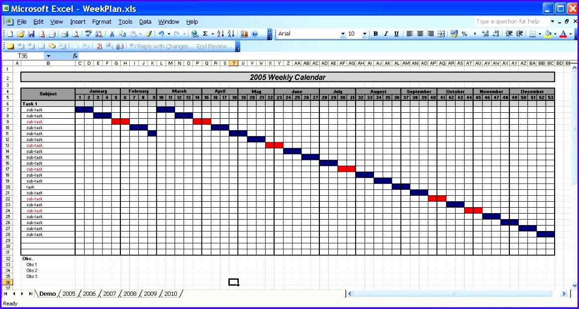 yearly excel calendar 1164622