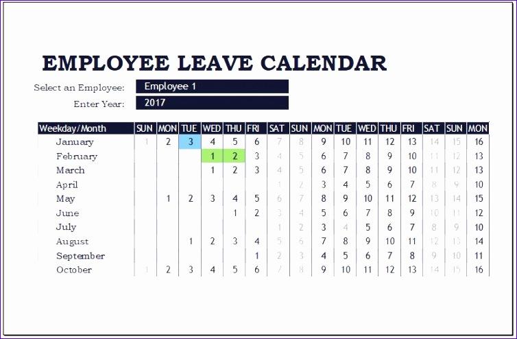 employee leave calendar templates 754494