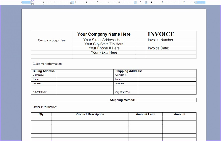 invoice template word 2003 1943 892570
