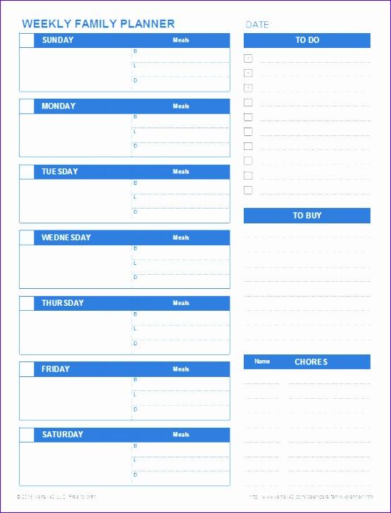 family planner 555728