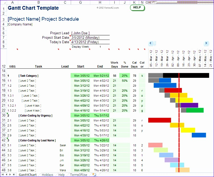 5 how to create a gantt chart in excel 2013 752621
