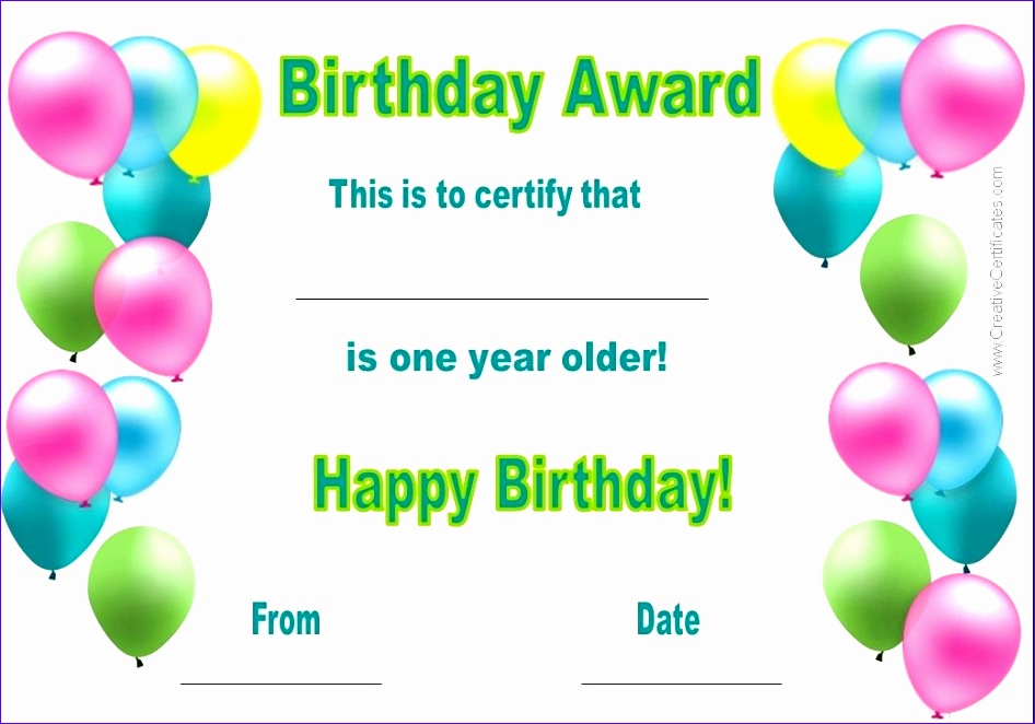 birthday certificate template 946662