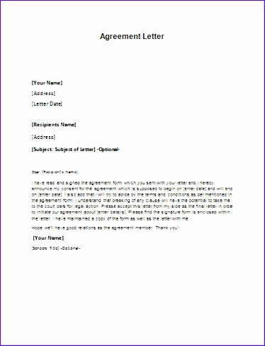 Excel 2007 Templates Free Download Exxpd Inspirational Agreement Letter Template for Word 411531
