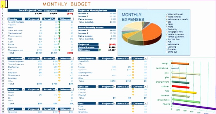 daily expense bud spreadsheet excel template 750397