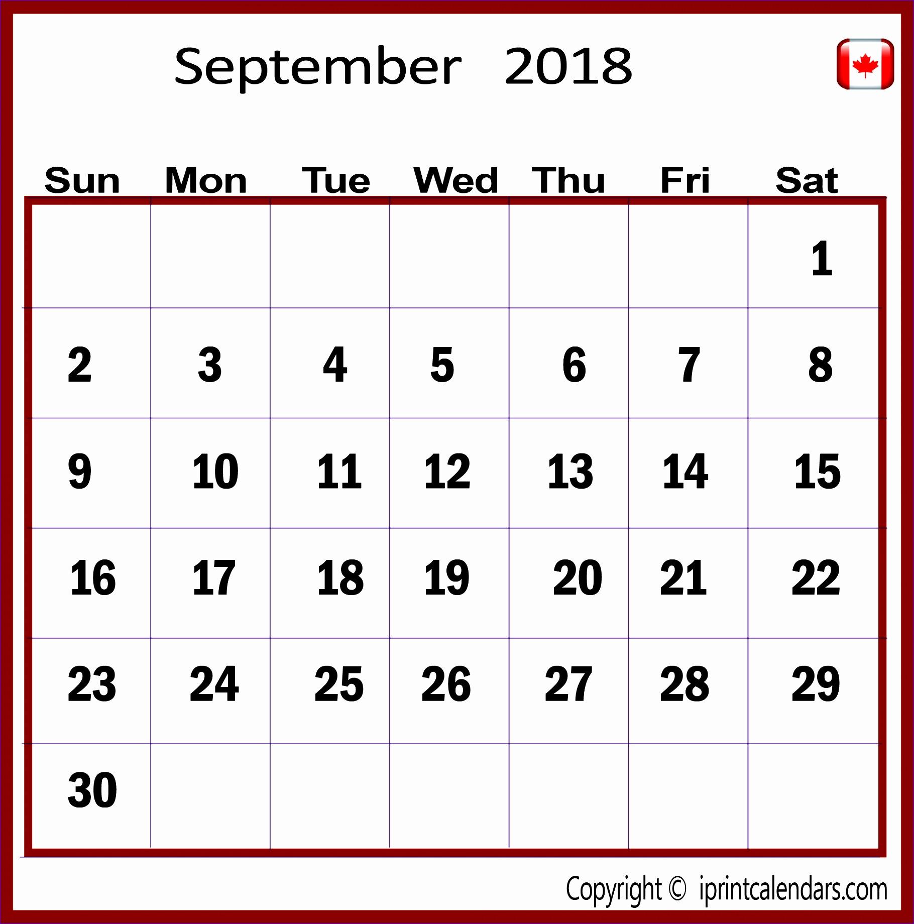 september 2018 calendar canada 3027 18201840