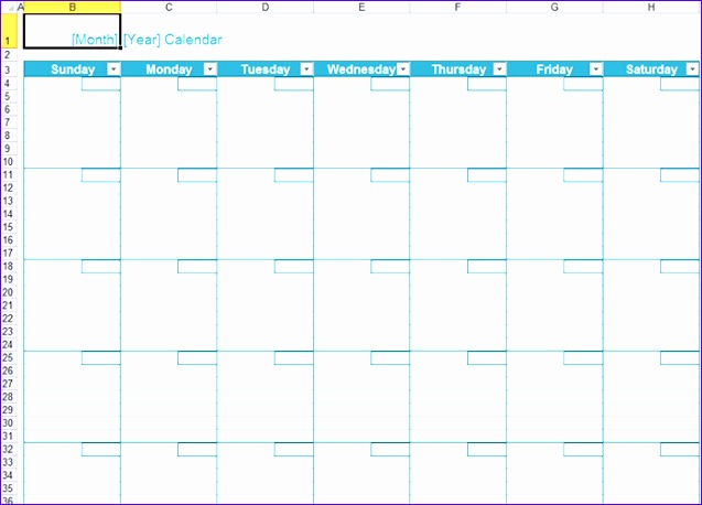 2888 excel create monthly yearly calendar 637458