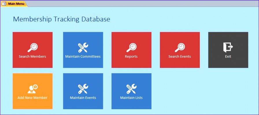 Microsoft Access Membership Tracking Database 896400
