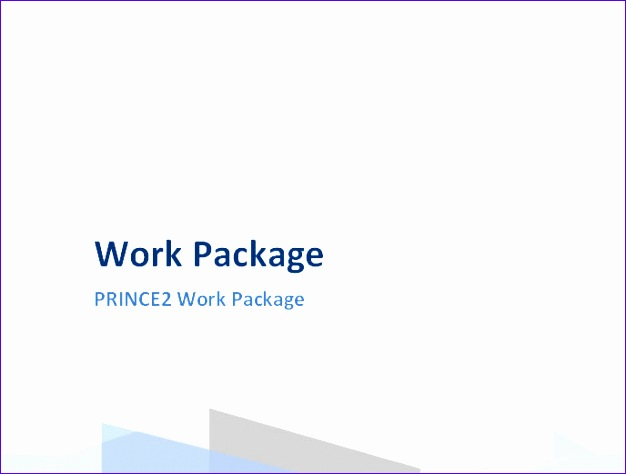 prince2 work package template 626474