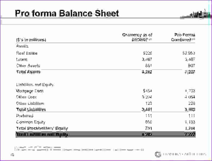 7 pro forma balance sheet 711541