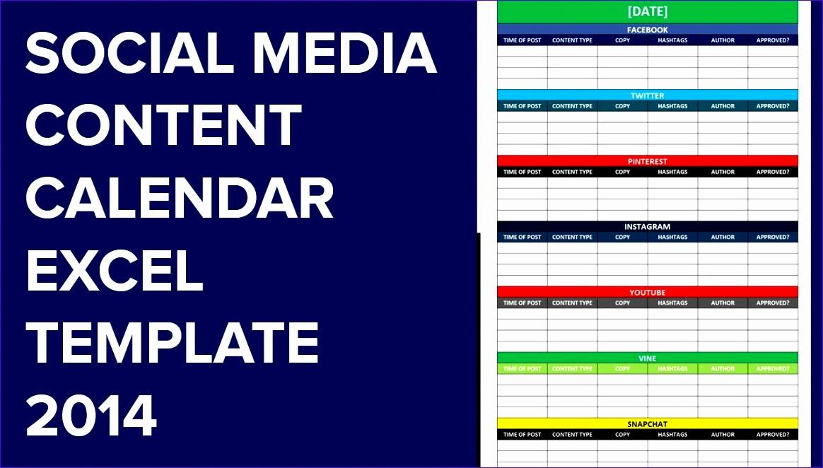 social media calendar excel template 218 1164662