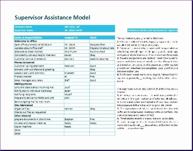 supervisor assistance model template 656513