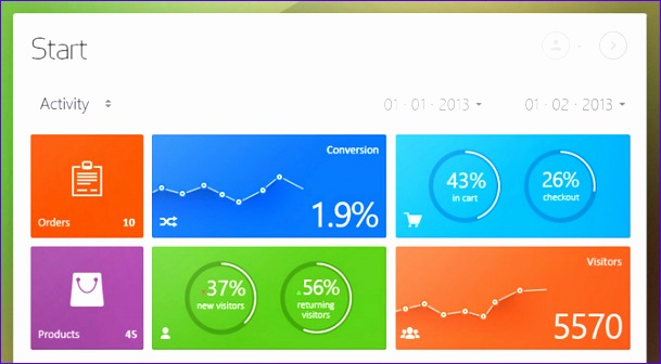 best flat dashboard web designs 609336