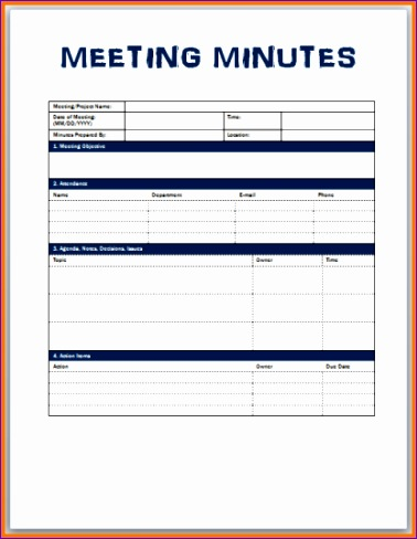 minutes of the meeting template 378488
