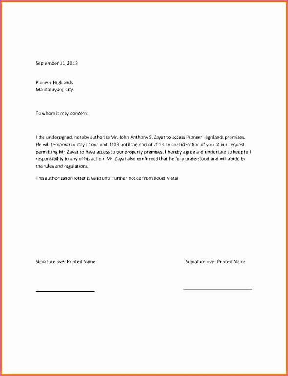 authorisation letter 589769