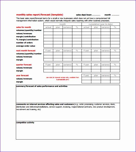 sales report template 532597