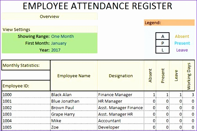 daily employee attendance sheet in excel template 637425