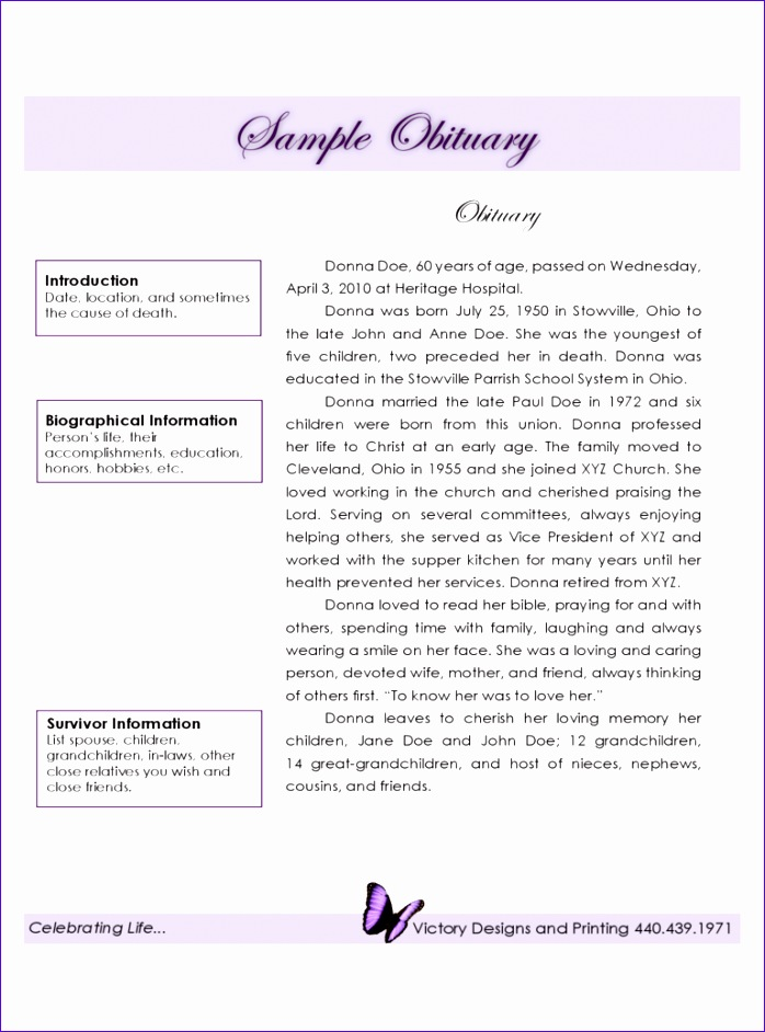 funeral obituary template 698942