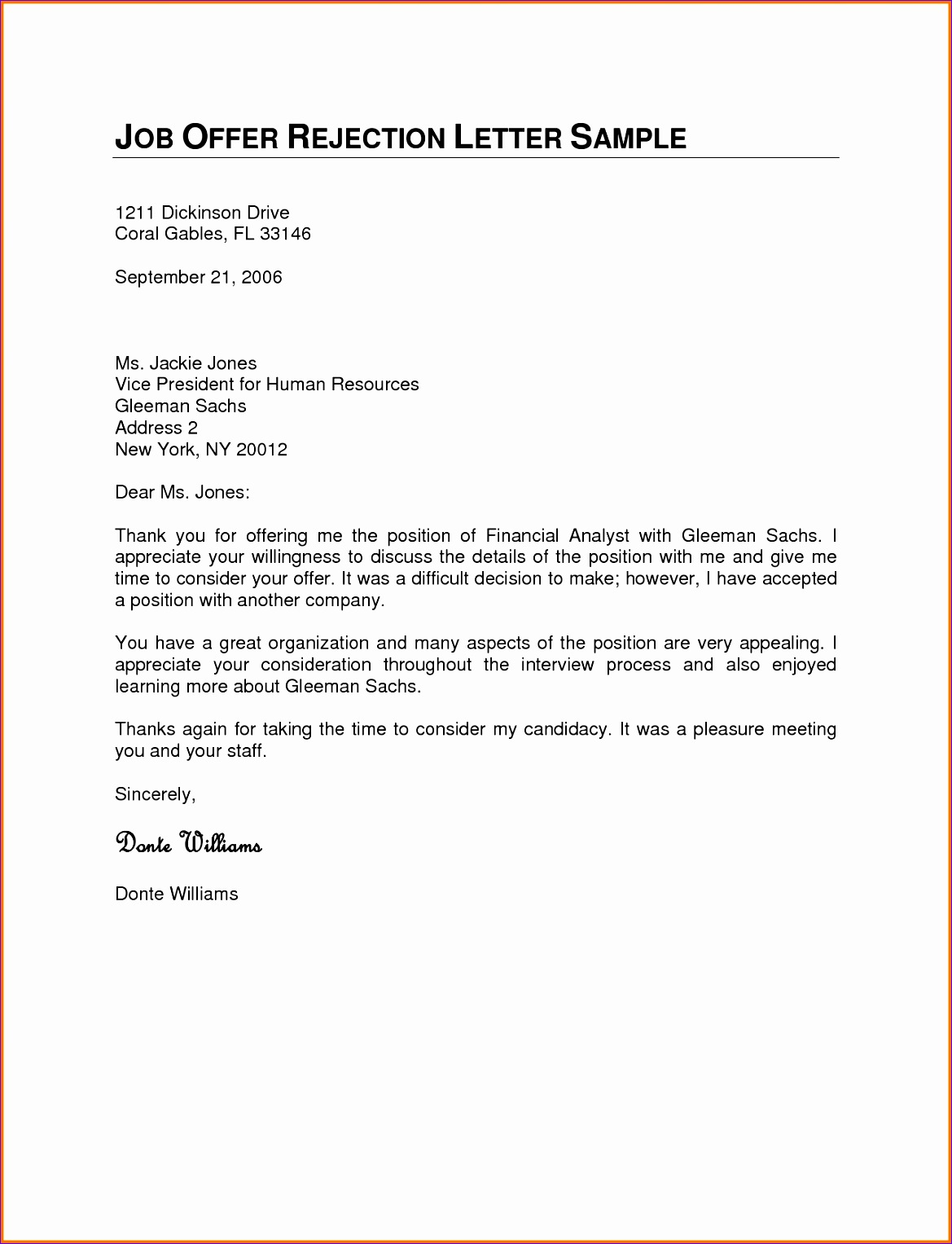 rejection letter template 11691527