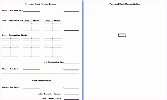 free business bank reconciliation template excel software 546328