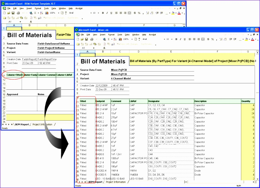 free bill of materials template for excel 899652
