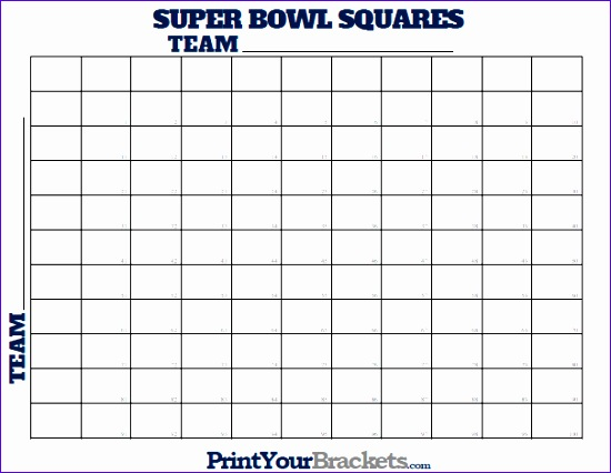 super bowl squares numbered 1 through 100 550426