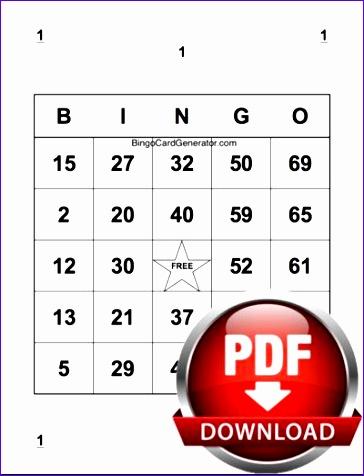 bingo card generator excel