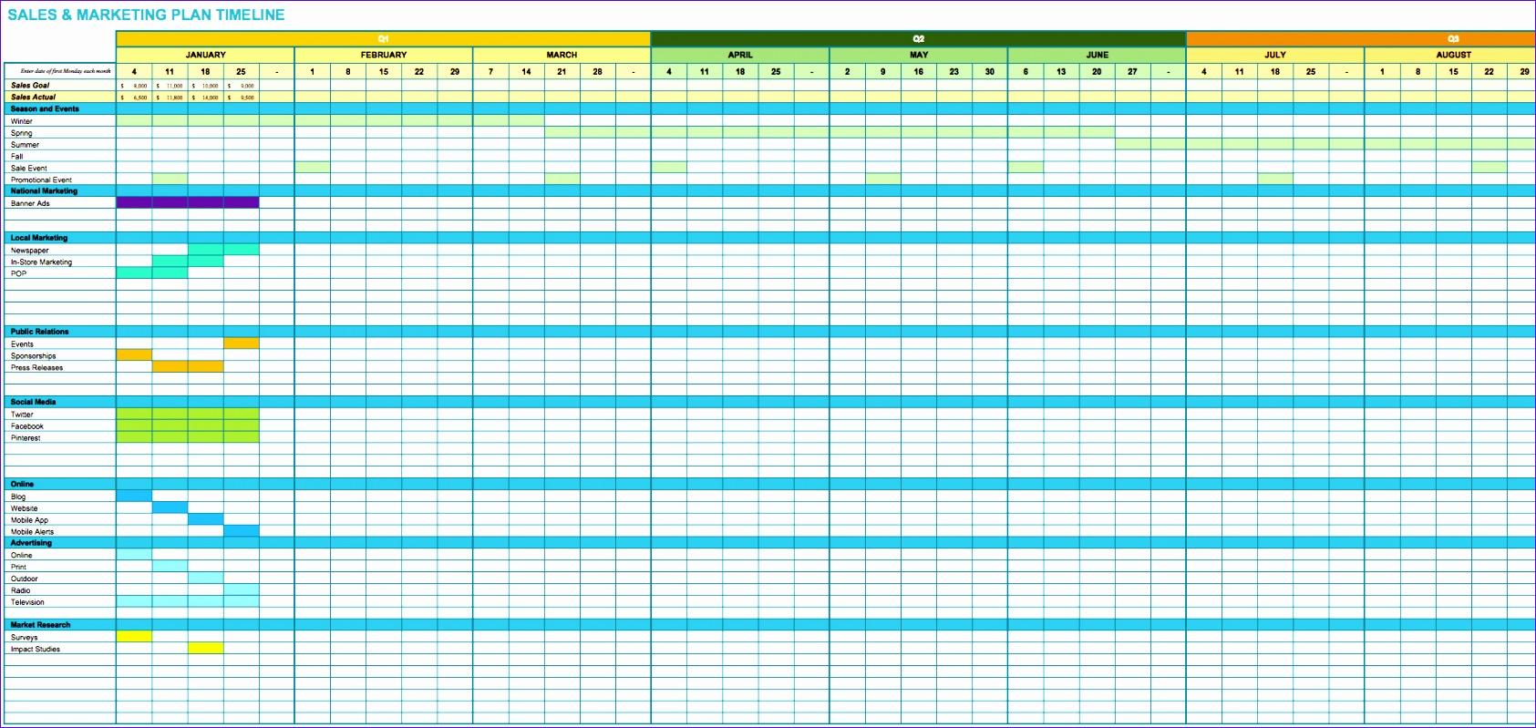 marketing spreadsheet template 1685799