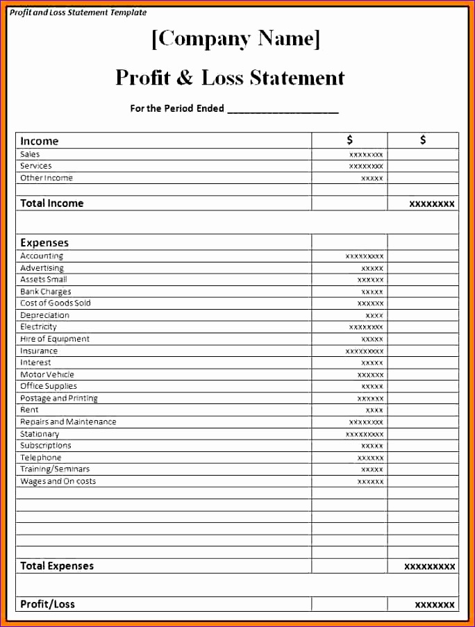 restaurant pl statement template restaurant monthly profit and loss statement excel in e statement template 684903
