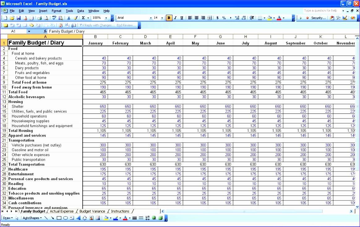 bud excel spreadsheet free 1164736