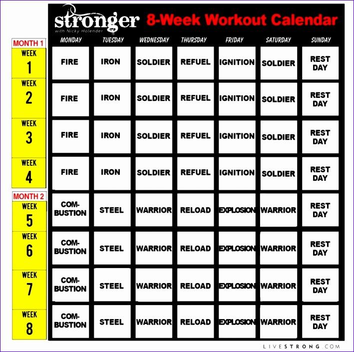 fitness calendar free 709705