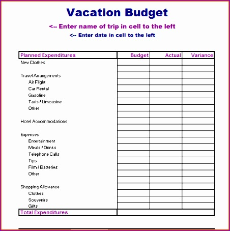vacation bud template 452454