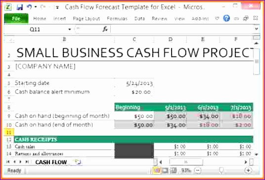 8 cash flow spreadsheet template 536365