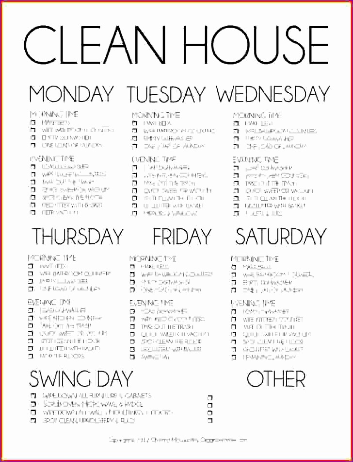 daily cleaning schedule dailyhomemakingschedule 728951