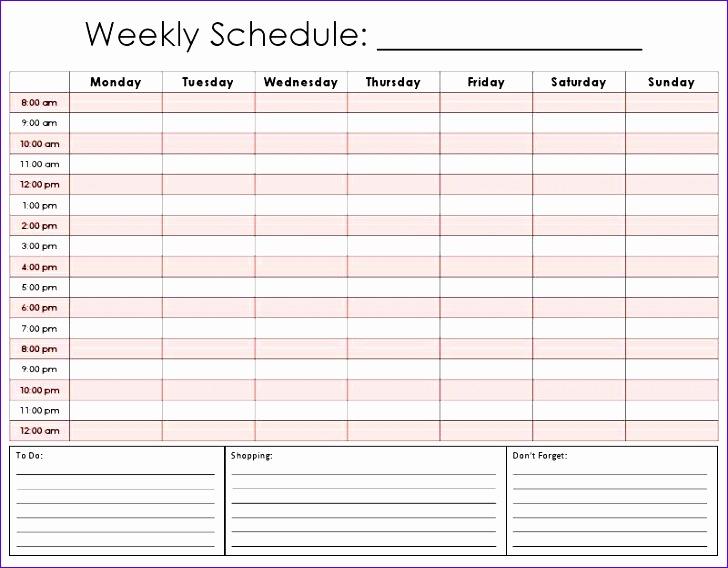 weekly calendar by hour 156 728568