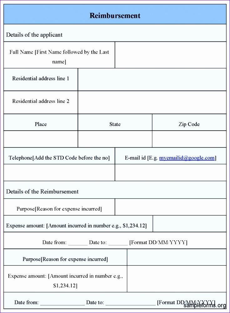 8 reimbursement form template 735999