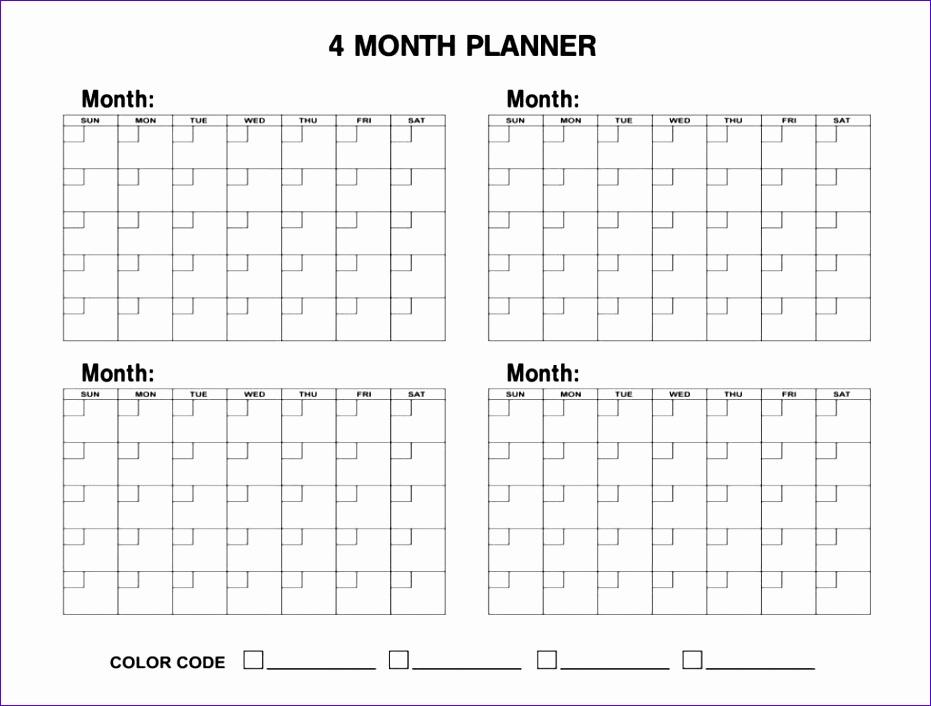 4 month calendar printable 931706