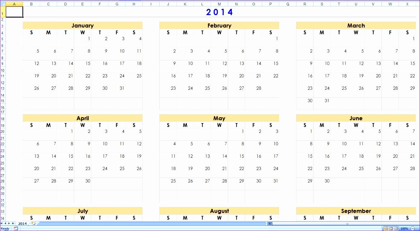 excel calendar templates 1431788